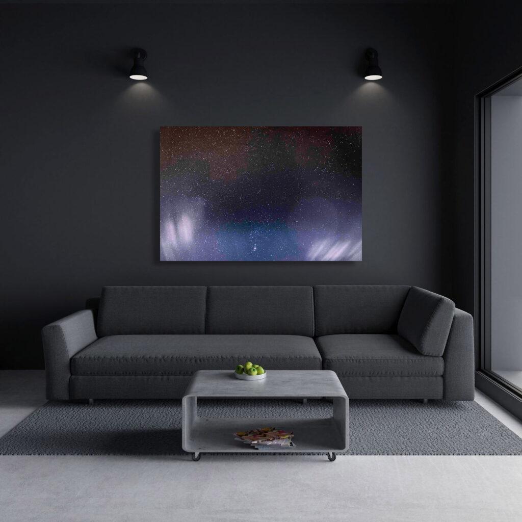Leinwand Sternenhimmel mit Orion Sternbild